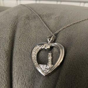 Lighthouse Heart Necklace